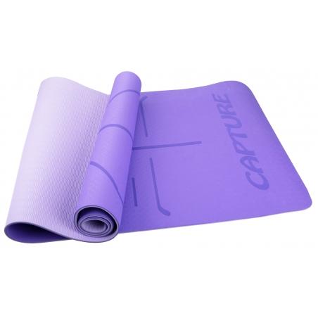 """Capture Outdoor, Tapis de Yoga """"Soothe YM-1830"""", bleu, 6mm d'épaisseur, 61x182cm, confort, adhérence, …"""