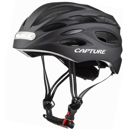 """Capture Outdoor, casque de vélo """"Charger Sport"""", avec éclairage avant et arrière à LEDs intégrées, rechargeable, …"""