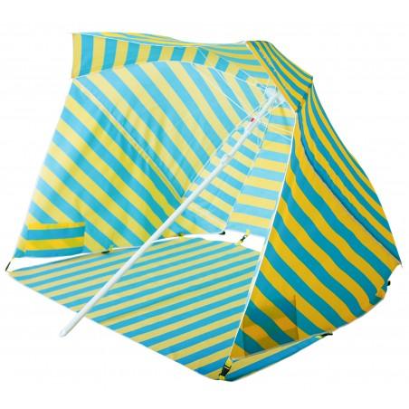 """Capture Outdoor, Parasol & Abri de Plage, 2 en 1, """"Zenith-200"""", idéal pour la plage, parasol classique, ou abri avec parois, …"""
