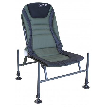 "Capture Outdoor, Pro Feeder Chair ""Master X-25"", Pêche au Feeder, confortable, ajustable, bretelles de transport, …"