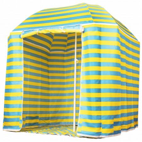 """Capture Outdoor, Parasol ou Parasol-Tente de Plage """"SeaSide BS-220"""", 2 en 1, parasol classique, ou avec tente, …"""