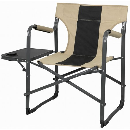 "Capture Outdoor, Fauteuil Confort, Siège Camping Deluxe ""Relax CR-136"", avec tablette latérale repliable, porte gobelet, …"