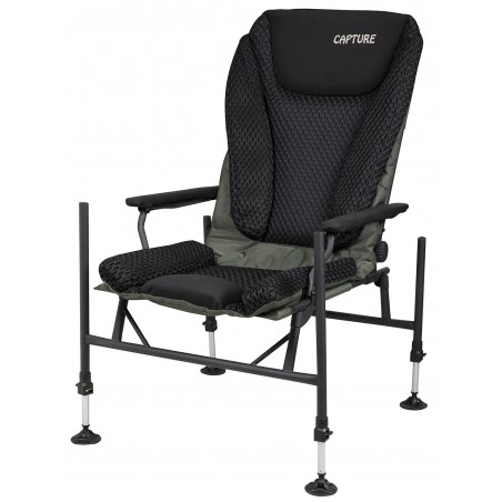 "Capture Outdoor, Pro Feeder Chair ""Airflow Black X-45 Pro"", Pêche au Feeder, confortable, ajustable, dossier réglable, …"
